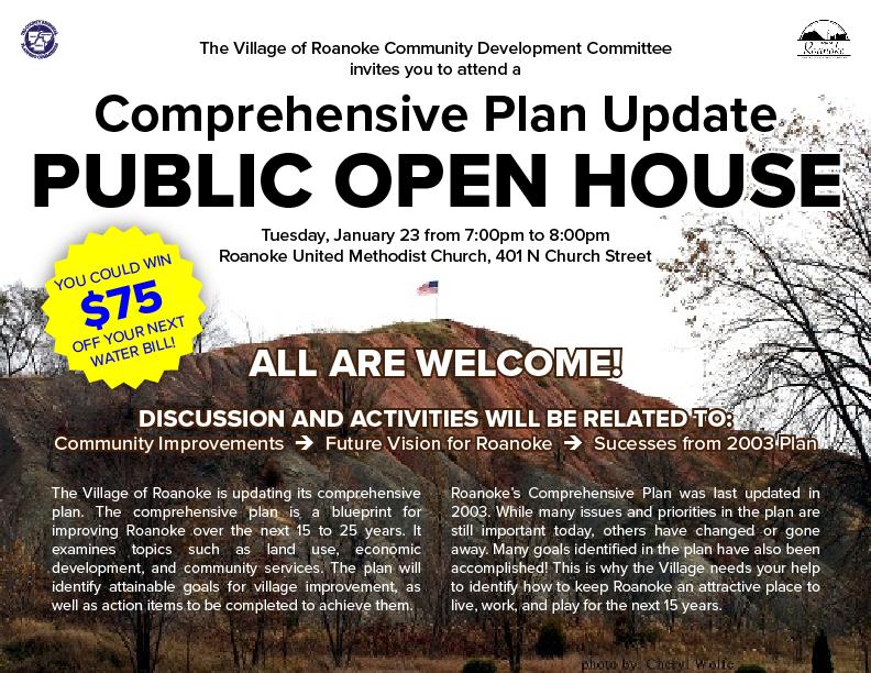 Roanoke Comp Plan Open House Flyer