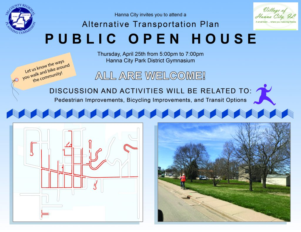 Hanna City Alternative Transportation Plan flyer