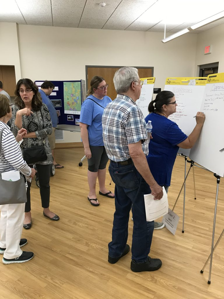 Princeville residents provide input at September 10, 2019 comprehensive plan open house