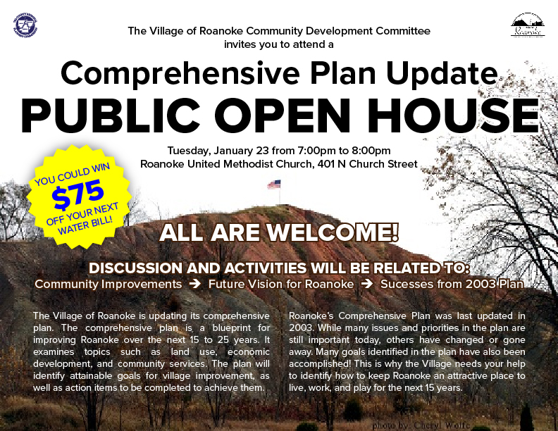 Roanoke Comp Plan Open House Flyer