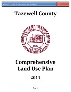 Cover page of the Tazewell County Comprehensive Plan