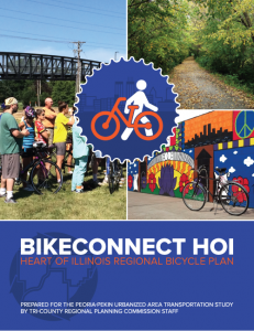 Cover of BikeConnect HOI – Heart of Illinois Regional Bicycle Plan